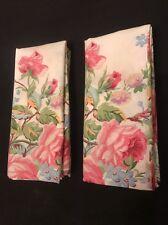 Rare! Vintage Ralph Lauren Pair Water Color Pattern Floral King Pillowcases