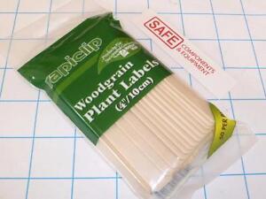 """Luster Leaf rapiclip 5/"""" Wood Plant Labels 811 Garden Pot Flat Stick 24-Pk MM-156"""