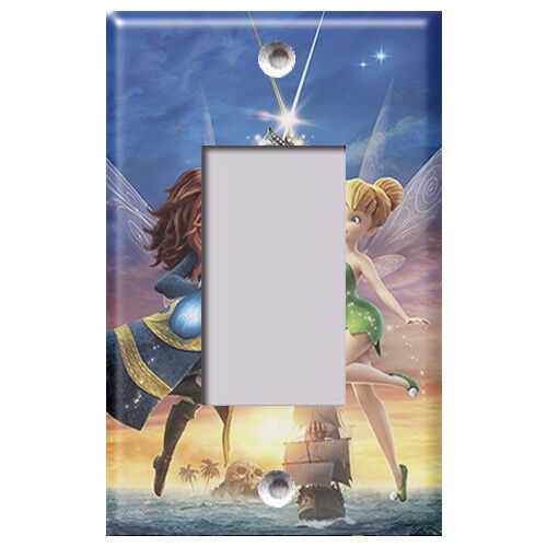 Light Switch Covers Home Decor Outlet Disney Pirate Fairy and Tinkerbell