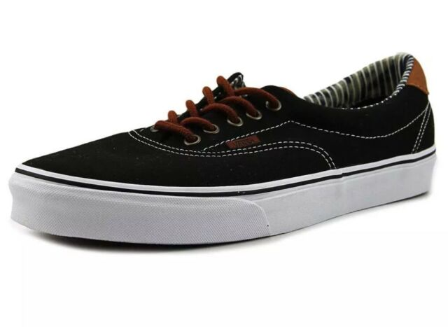 e77af85bdd VANS Era 59 C l Black Striped Denim Skate Shoes 3s4io3 Mens 2016 12 ...