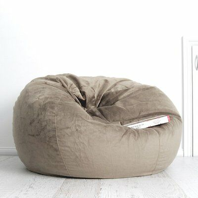 FUR BEANBAG LARGE Champagne Velvet Cover Cloud Chair Bean Bag for Lounge Rumpus
