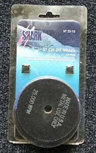"Shark 24-10 Die Grinder Cut-Off Wheels 3 x 1//16 x 3//8/"" 46g for Metal 10 pk USA"