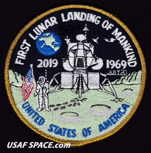 APOLLO 11 50th ANNIVERSARY FIRST LUNAR LANDING OF MANKIND AB Emblem PATCH
