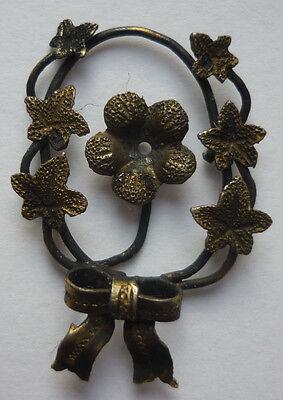 Diplomatisch Florales Zierteil Silber Vergoldet Vor 1900 ~ 0,73 Gramm Ca. 24 X 17 Mm Wir Haben Lob Von Kunden Gewonnen