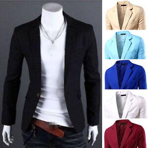 Herren Freizeit Business Anzuge Blazer Sakko Jacke Anzug
