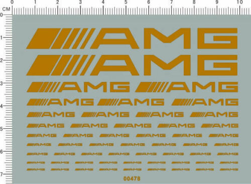 decals AMG car logo for different scales yellow 00478