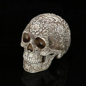 Flame Skull Silicone Mold Resin Gypsum Candle Soap Crafts Human Head Mould