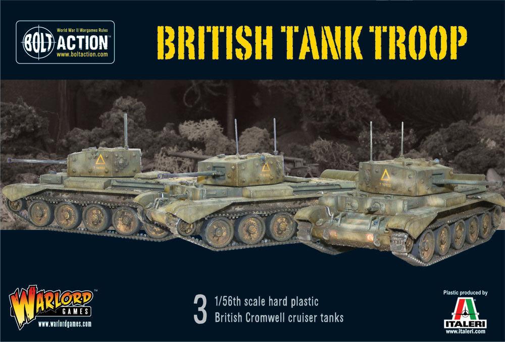 Bolt Action BNIB British Tank Troop (3 Cromwells)