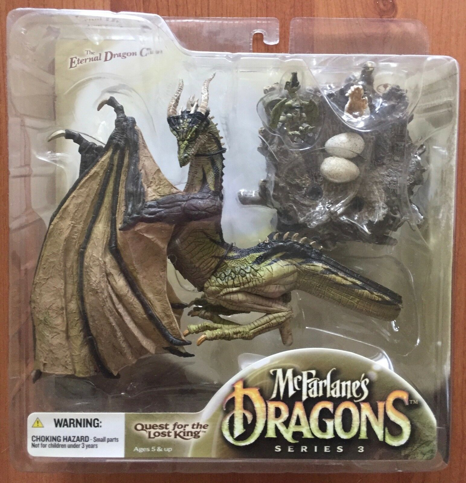 MCFARLANE'S DRAGONS SERIES 3 ETERNAL CLAN DRAGON FIGURE QUEST FOR THE LOST KING