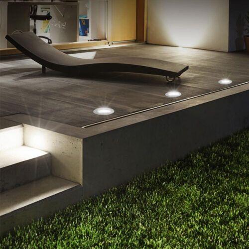 Grafner Garten Solar LED Bodeneinbaustrahler rund Wegbeleuchtung Bodenleuchte