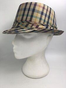 e47368e21f0 MENS TAUPE BLUE GREEN WINE BROWN CHECK TRILBY FEDORA HAT HT2099