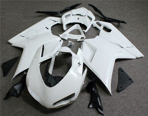 Unpainted-White-ABS-Body-Work-Fairing-Kit-For-Ducati-1098-1198-848-07-2011-2008