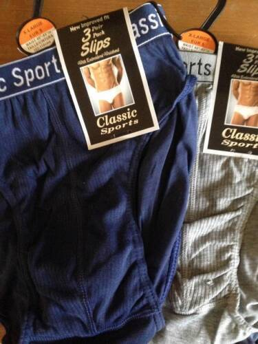 ** 6 X MENS SLIPS ELASTICATED WAISTBAND VARIOUS COLOURS /& SIZES NEW PANTS BRIEFS