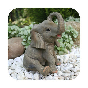 Niedliche dekofigur elefant gl ckselefant afrika deko afrikanische skulptur 4260168289495 ebay - Afrikanische deko ...