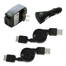 2 USB Data Retract Cable+Car+Battery Wall Charger for Samsung Galaxy S5 Note 3