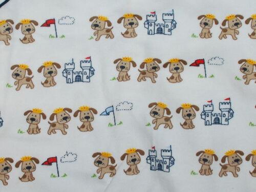 Schlafanzug~USA~62-68~Strampler~Einteiler~König~100/% BW~Hund~Schloss~beige~JUNGE