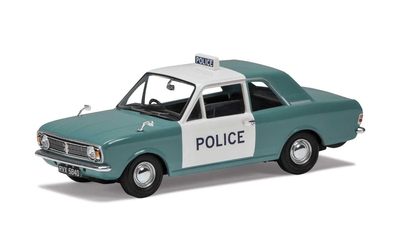 Ford Cortina Mk2 1300 De Luxe Manchester & Salford Police -  Corgi 1 43 Car VA04