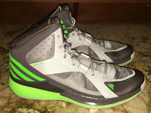 Details about ADIDAS Crazy Strike 3 Grey Lime Green Basketball Shoes Sneakers NEW Mens Sz 12