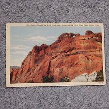 Vintage Postcard Kissing Camels On North Gate Rock, Garden Of The Gods, Colorado