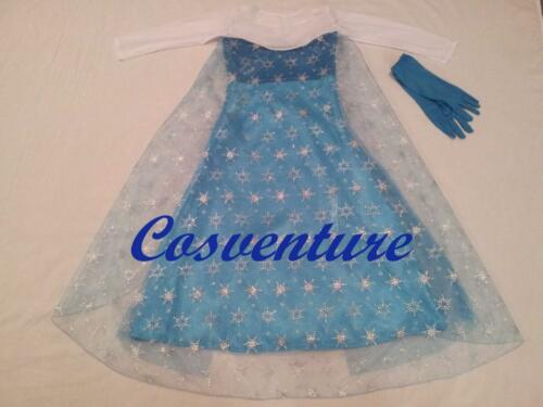 SALE! Divine Elsa Dress Costume with GLOVES Book Week Christmas Frozen Party!!!