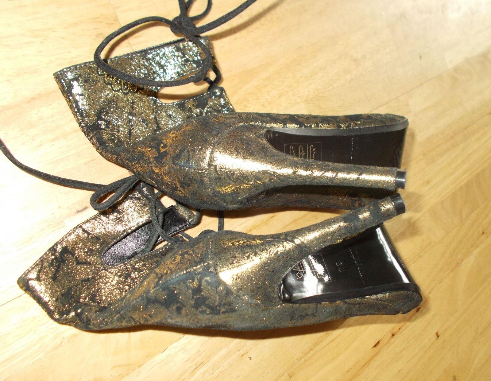 OFFICE schwarz Gold suede paisley floral lace-up STEAMPUNK STEAMPUNK STEAMPUNK schuhe Stiefel BNIB 3 36 0f17e0