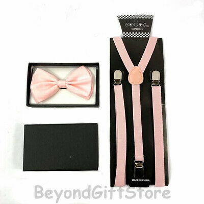 Skinny Suspender and Bow Tie Adults Men Neon Orange Formal Wear Accessories