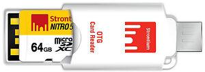 Strontium NITRO CLASS10 64GB MICRO SD UHS-1 566X With OTG Card Reader (SRN64GTFU1T)