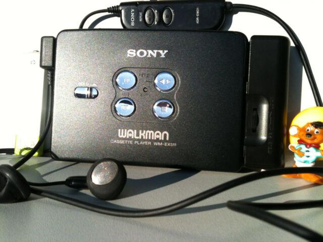 SONY WM-EX511 Walkman Cassette Player Remote Headphones Kassettenspieler Adapter