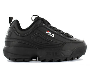 a410edea1 Fila Disruptor Low W Ladies Sneaker Shoes 1010302.12v Black Leather ...