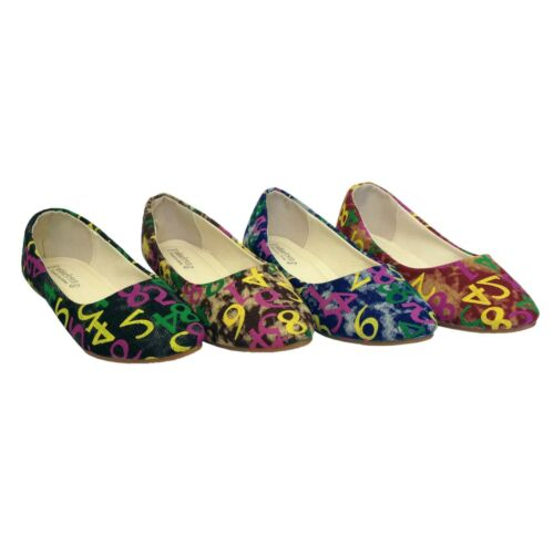 Ladies Ballerina Ballet Dolly Pumps Summer Womens Floral Shoes Size Girls Flats