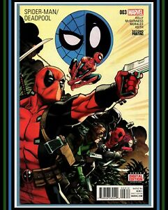 Spider-Man-Deadpool-3-2nd-PRiNT-VaRiaNT-HTF-2016-Marvel-Comics-vs-NM-9-4