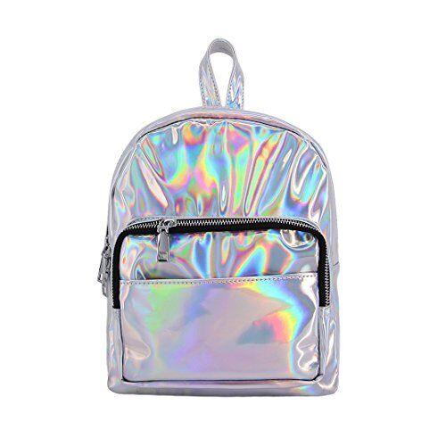 Candice Women Silver Fashionable Hologram Holographic PU Leather Shoulder Bag...