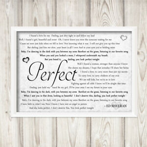 Ed sheeran perfect divide grey a4 framed print song lyrics gift image is loading ed sheeran perfect divide grey a4 framed print stopboris Image collections