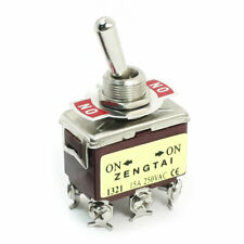 Ac 250v 15a Dpdt On On 2 Positions 6 Pin Latching Toggle Switch E Ten1321