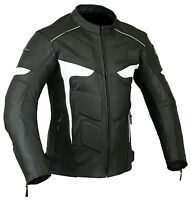 Mens Biker Motorbike Motorcycle LJ-2 Leather Jacket CE Armours All Sizes