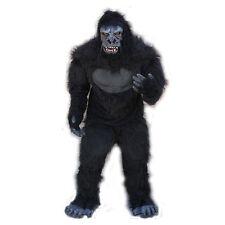 Gorilla Ape Monkey Adult Halloween Costume Mask Gloves Chest Legs & Feet