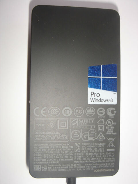genuine microsoft surface tab 1513 ac power adapter charger 12v 2a rh ebay co uk