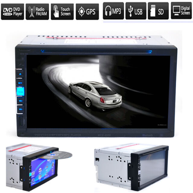 "7"" Universal 2 Din Car DVD/USB/MP3/SD/AUX Player Multimedia Bluetooth Radio New"