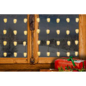 60 Led Pommes De Pin Guirlande Lumineuse 6m Decoration De Noel