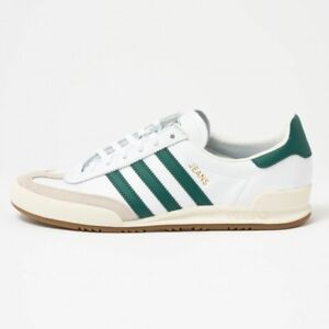 the best attitude 390bd 63ce4 Image is loading ADIDAS-ORIGINALS-JEANS-LEATHER-MENS-TRAINERS-WHITE-GREEN-