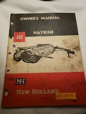 New Holland 460 Haybine Hay Cutter Owners Operators Manual