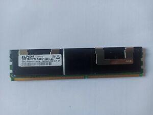 2GB Elpida DDR2 RAM PC2-5300F-555-11-B0 667MHz 2Rx8 ECC Fbdimm EBE21FE8ACFT-6E-E