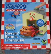 JAY JAY THE JET PLANE WOODEN ADVENTURE REVVIN' EVAN'S FIREHOUSE NEW IN BOX!