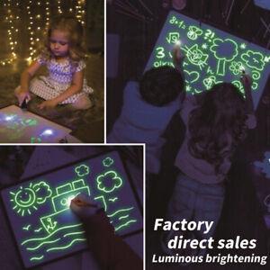 Tablette-planche-dessin-lumineuse-magique-A4-definie-jouet-amusement-leger-PS