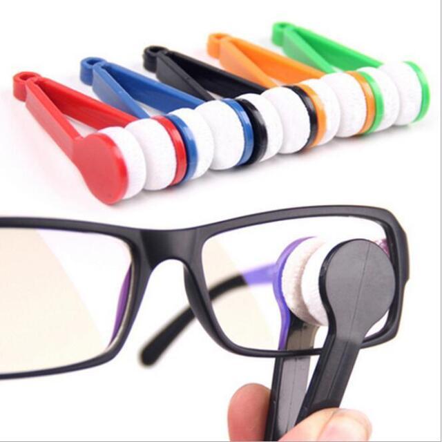 HOAU Modern Mini Glasses Eyeglass Sunglasses Spectacles Microfiber Cleaner Brush