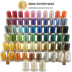 New-brothread-63-Colours-Polyester-Sewing-amp-Embroidery-Machine-Thread-500M-Each