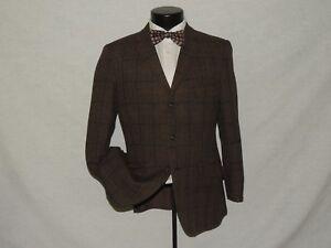 Willerby-Tailors-Men-039-s-Vintage-heavy-Brown-tweed-2-button-jacket-coat-40-S