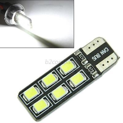 Hot CANBUS NO ERROR T10 12 LED 2835SMD W5W 194 168 Door Map Light Bulb White