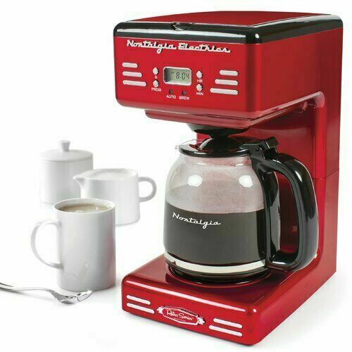 Nostalgia Retro 12-Cup Programmable Coffee Maker