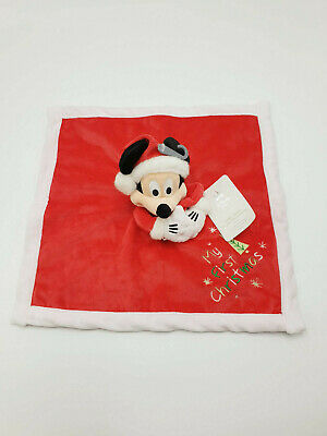 DOUDOU ROUGE PLAT MICKEY MY FIRST CHRISTMAS FLOCON DISNEY STORE NEUF 13
